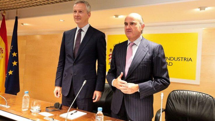 Luis de Guindos y Bruno Le Maire