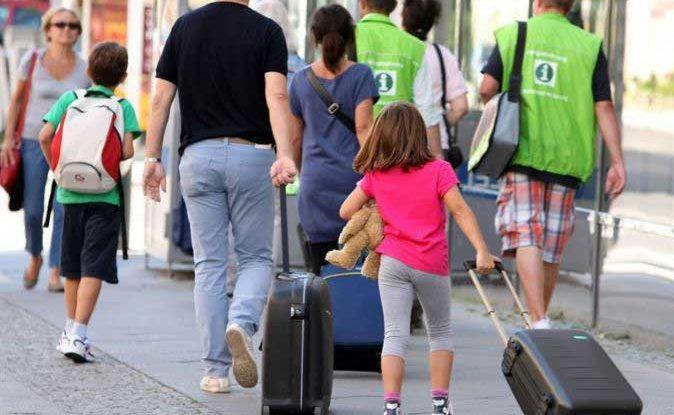 Familia de vacaciones.