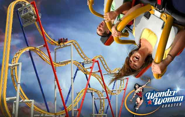 Montaña Rusa Wonder Woman, Six Flags.