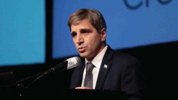 El ministro de finanzas de Argentina, Luis Caputo.