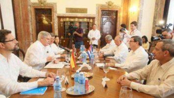 Reunión de los ministros de Cuba y España.