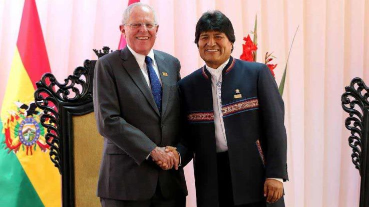 Presidente de Perú, Pedro Pablo Kuczynski y Presidente de Bolivia, Evo Morales.