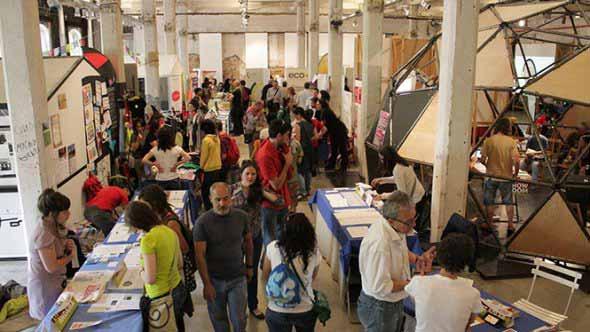 Feria de economía solidaria.