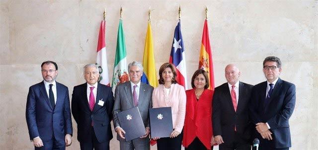Miembros de la Alianza del Pacífico.