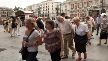 La pensión media de jubilación asciende en España.
