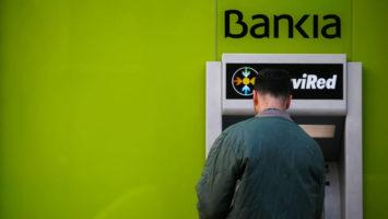 Cajero automatico de Bankia.