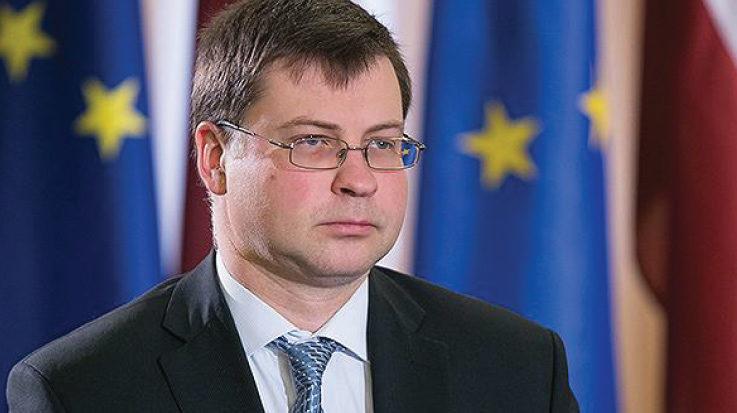 El vicepresidente del Euro y el Diálogo Social, Valdis Dombrovskis.
