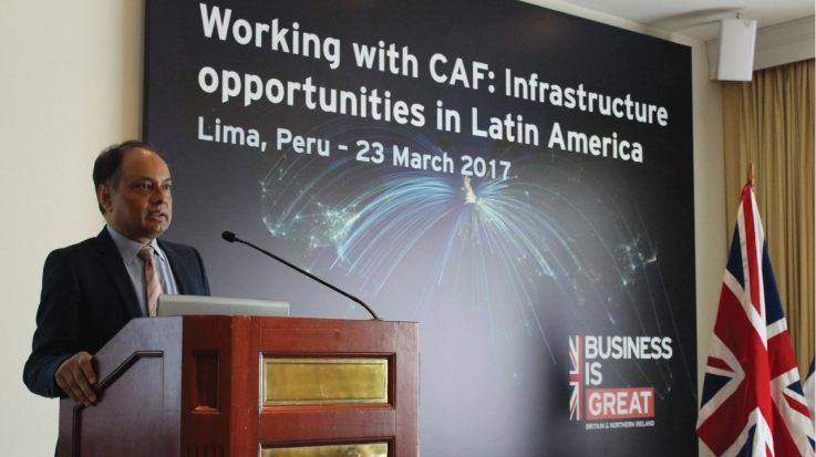 El embajador del Reino Unido en el Perú, Anwar Choudhury.