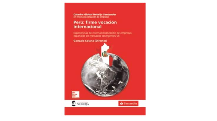 """Portada del libro, """"Perú: firme vocación internacional""""."""