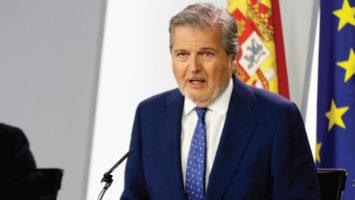 El ministro de Educación, Cultura y Deporte y portavoz del Gobierno, Íñigo Méndez de Vigo, durante la rueda de prensa posterior al Consejo de Ministros.