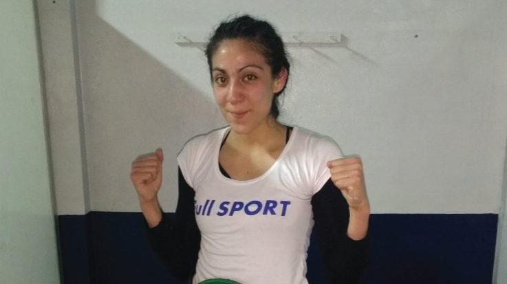 La boxeadora Karen Carabajal.