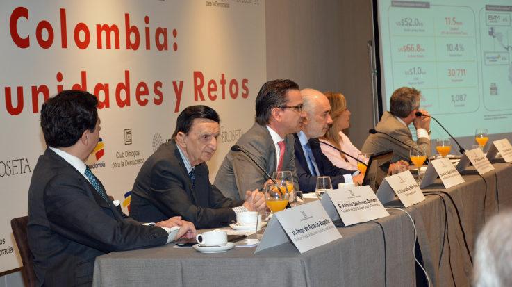 El presidente de Bancolombia, Juan Carlos Mora Uribe, explica las áreas de interés para invertir en Colombia.
