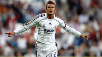 El futbolista profesional, David Beckham.