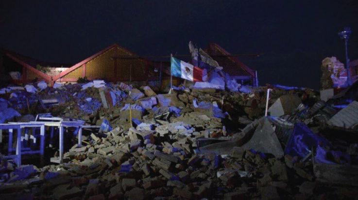 Zona afectada por el terremoto en México 2017.