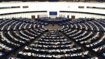 Sala del Parlamento Europeo.