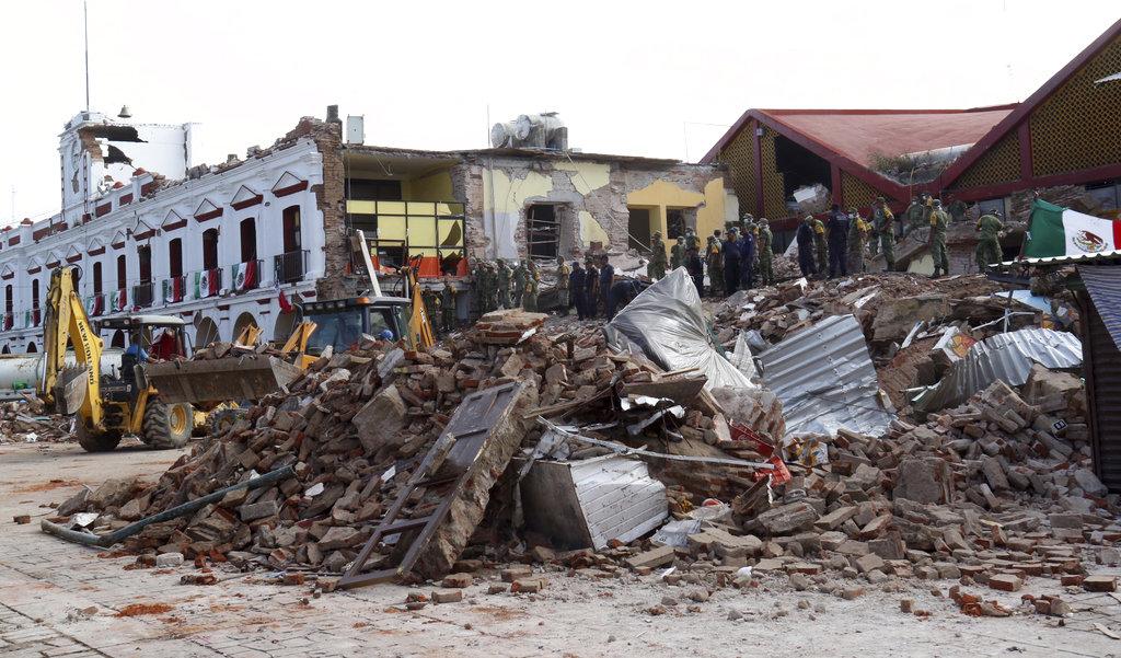 Zona de Oaxaca afectada por el terremoto en México 2017.