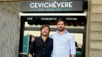 Guillermo García Muchacho y Oscar Römer, fundadores de Cevichévere.