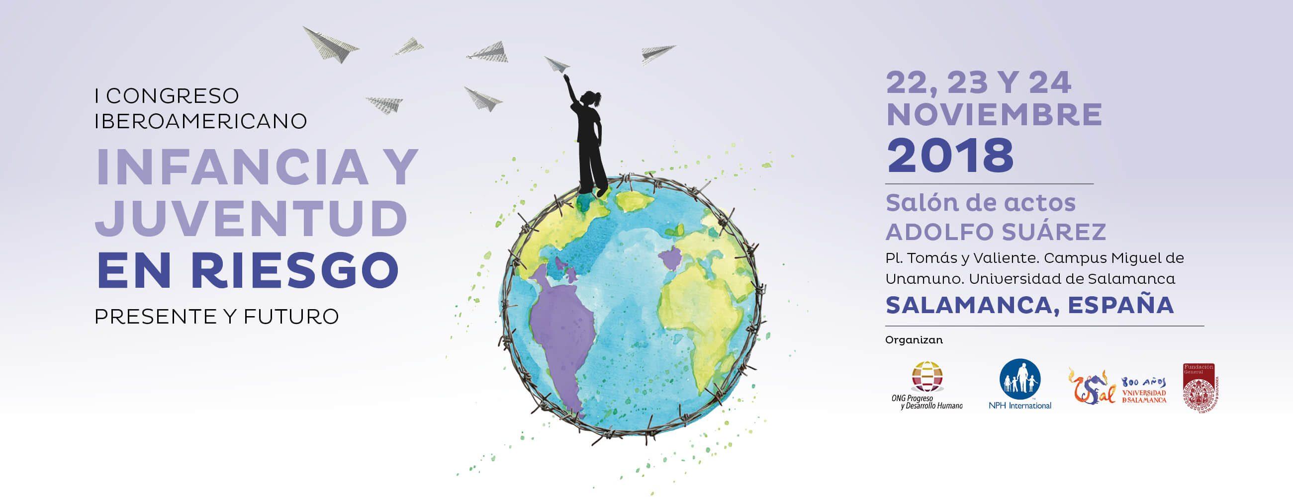 El 'I Congreso Iberoamericano de Infancia y Juventud' tendrá lugar en el Salón de Actos Adolfo Suárez, Campus Miguel de Unamuno, Universidad de Salamanca.