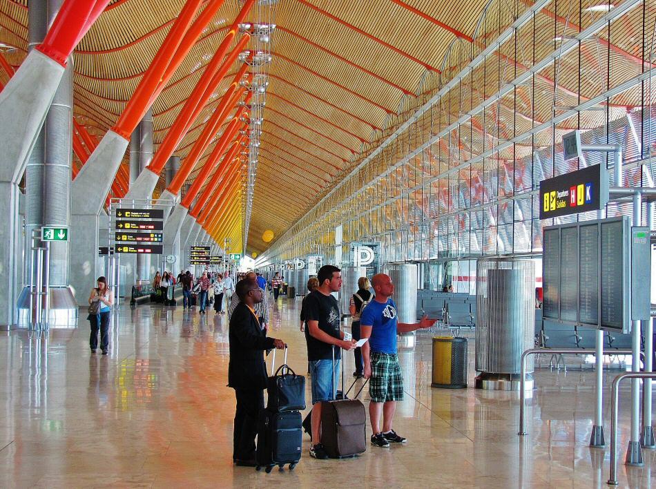El Aeropuerto de Madrid, Barajas Adolfo Suárez.