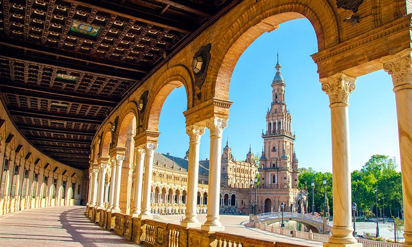 La Plaza de España en Sevilla.