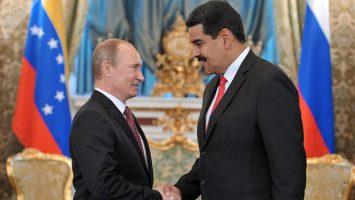 Vladimir Putin, presidente de Rusia, y Nicolás Maduro, presidente de Venezuela.