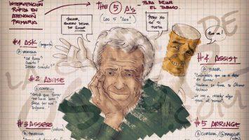 Augusto Saldaña descubrió el potencial docente de los dibujos para los aspirantes al MIR y para sus pacientes con 'La Chuleta de Osler'.