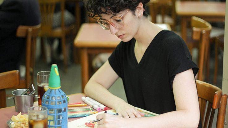 María Luque, ilustradora argentina y ganadora del 'I Premio de Novela Gráfica-Ciudades Iberoamericanas'.
