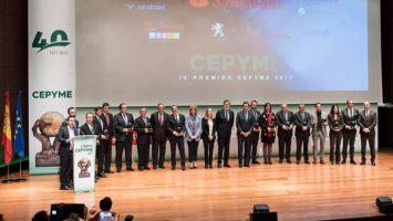 Acto de entrega de los 'IV Premios Cepyme'.
