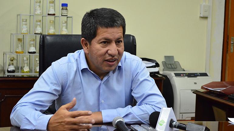 Luis Sánchez, ministro de Hidrocarburos de Bolivia.