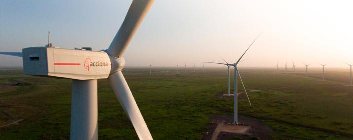 El nuevo parque aeólico de Acciona en Chile generará 510 puestos de trabajo.