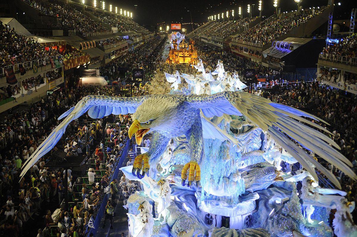 Durante el Carnaval de Río de Janeiro se registran unos ingresos en hostelería de 625 millones de dólares.