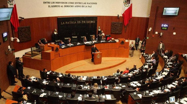 Interior del Senado de México.