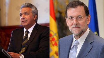 Los presidentes de Ecuador y España, Lenin Moreno y Mariano Rajoy.