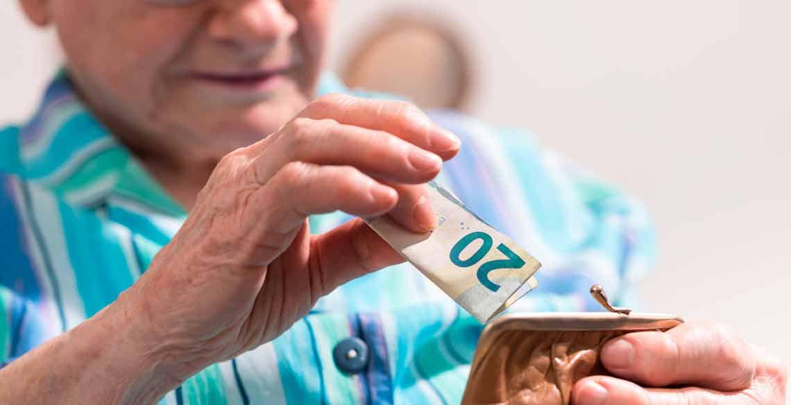 La pensión máxima se situará en 2.580,1 euros en 2018.
