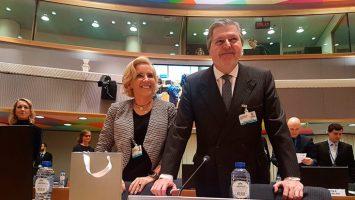 Íñigo Méndez de Vigo en el Consejo de Ministros de la UE.