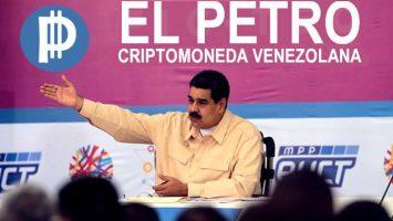 Nicolás Maduro, presidente de Venezuela, durante la campaña de creación de la criptomoneda 'El Petro'.