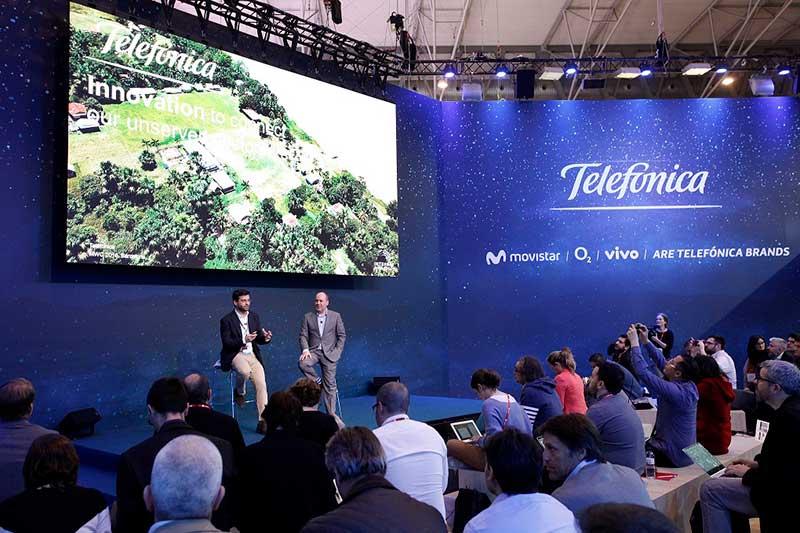 Presentación de Telefónica en el Mobile World Congress 2018.