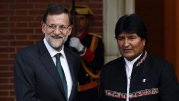 Mariano Rajoy, presidente de España, y Evo Morales, presidente de Bolivia.