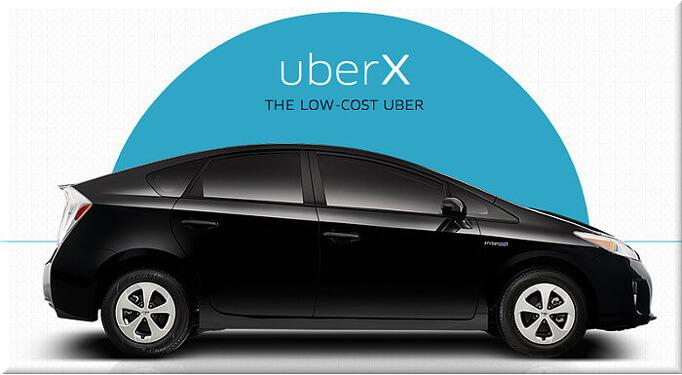 'UberX' utilizará sólo vehículos con licencia de alquiler.