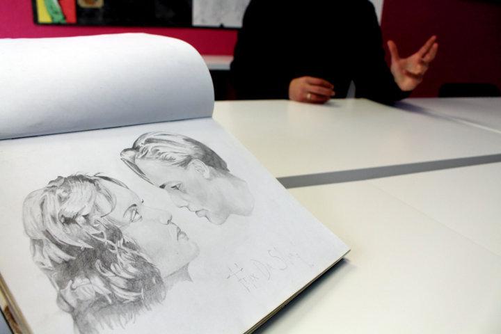 La escuela de arte, a dos años de su apertura, ya suma más de 40 alumnos.