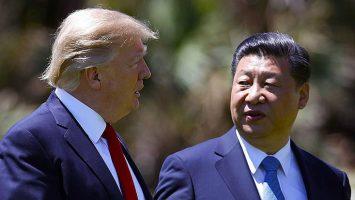 Donald Trump, presidente de Estados Unidos, junto a Xi Jinping, presidente de la República Popular China.
