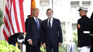 Donald Trump, presidente de Estados Unidos, junto a Mariano Rajoy, presidente de España.