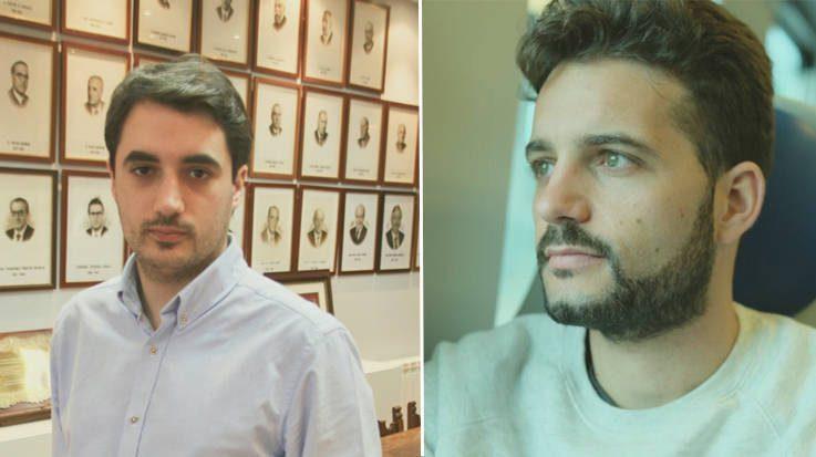 Adrián Hugo Aginagalde, vocal de residentes de la Comisión Nacional de Medicina Preventiva y Salud Pública; y Domingo Antonio Sánchez, candidato para la especialidad de Oncología Médica.