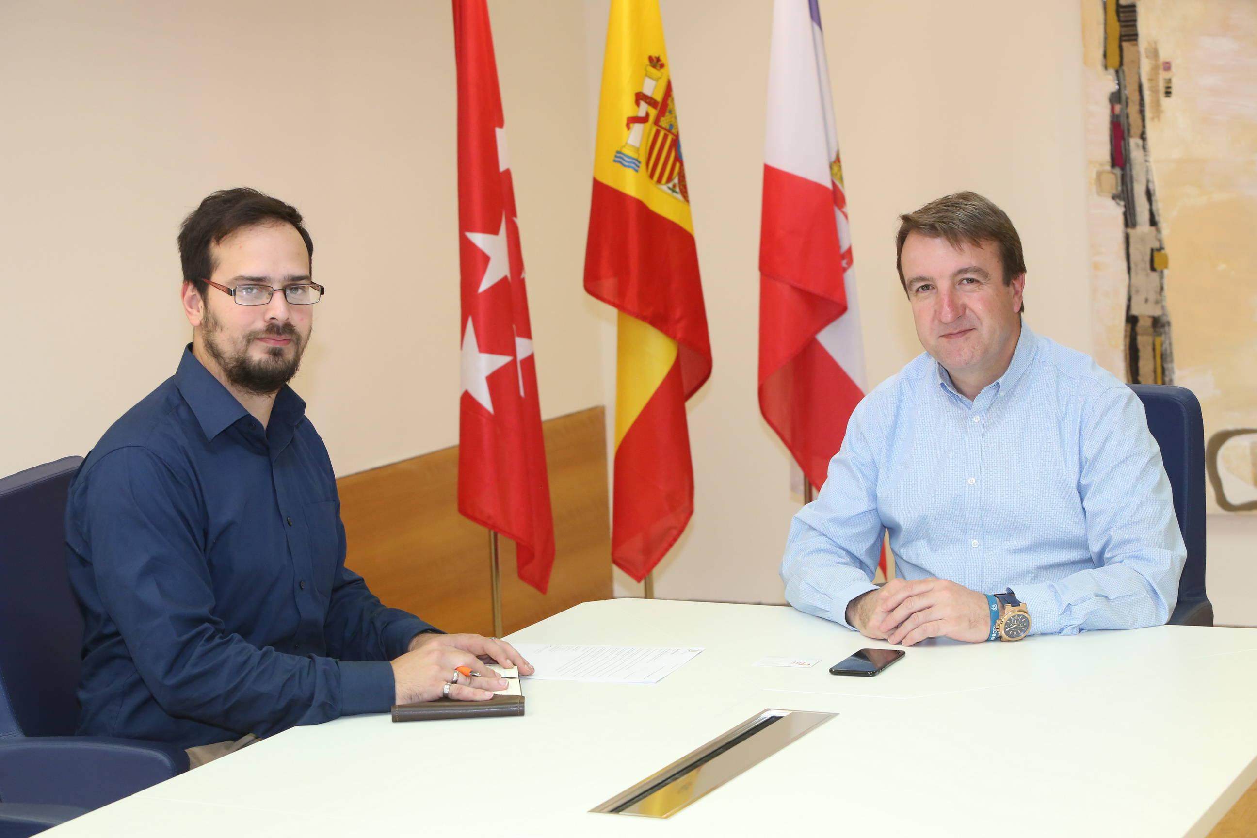 Jesús Moreno, alcalde de Tres Cantos. durante la entrevista con IberoEconomía.