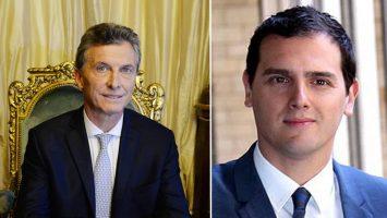 Mauricio Macri, presidente de Argentina y Albert Rivera, diputado y presidente del partido español Ciudadanos.