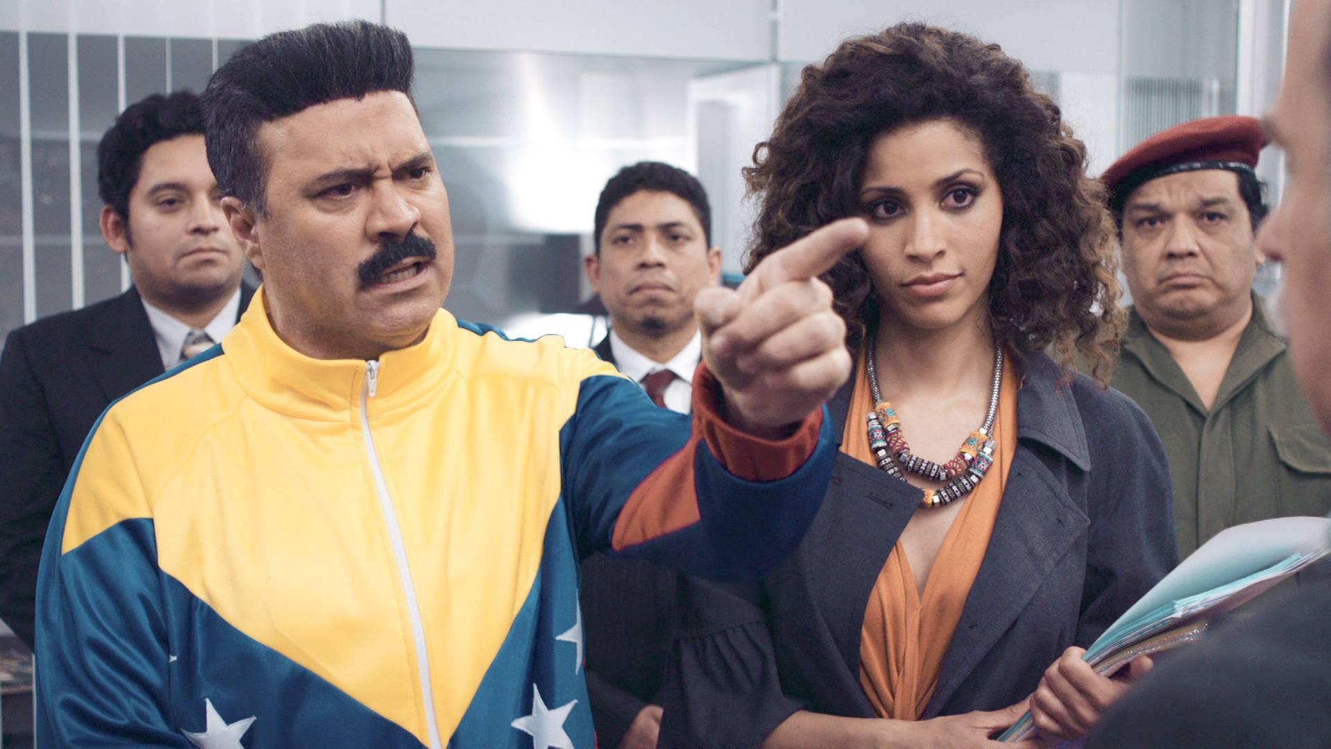 Una de las escenas de 'Cuerpo de élite' donde se parodia al presidente de Venezuela.