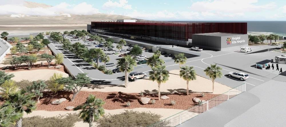 Diseño del nuevo Hospital Alto Hospicio en Chile.