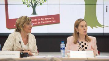 Núria Vilanova, presidenta de Atrevia, y Ana Pastor, presidenta del Congreso de los Diputados.