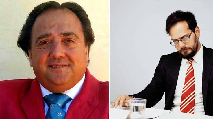 Josu Imanol Delgado y Ugarte, economista español, y José Antonio Puglisi periodista italovenezolano.