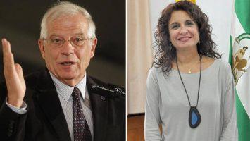 Josep Borrell, expresidente del Parlamento Europeo, y María Jesús Montero, consejera de Hacienda y Administración Pública de la Junta de Andalucía.